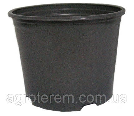 Горшок стакан технологический для рассады круглый черный 100 мм х 70 мм (без дырочек)