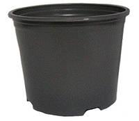 Горшок технологический для рассады круглый черный 100 мм х 70 мм (без дырочек)