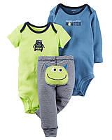 Комплект для мальчика Веселые попки  -  Монстрик - Little monster Carter's (США)