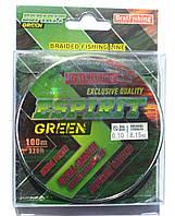Шнур поводковый БратФишинг ESPIRIT GREEN, 0,10, 100м