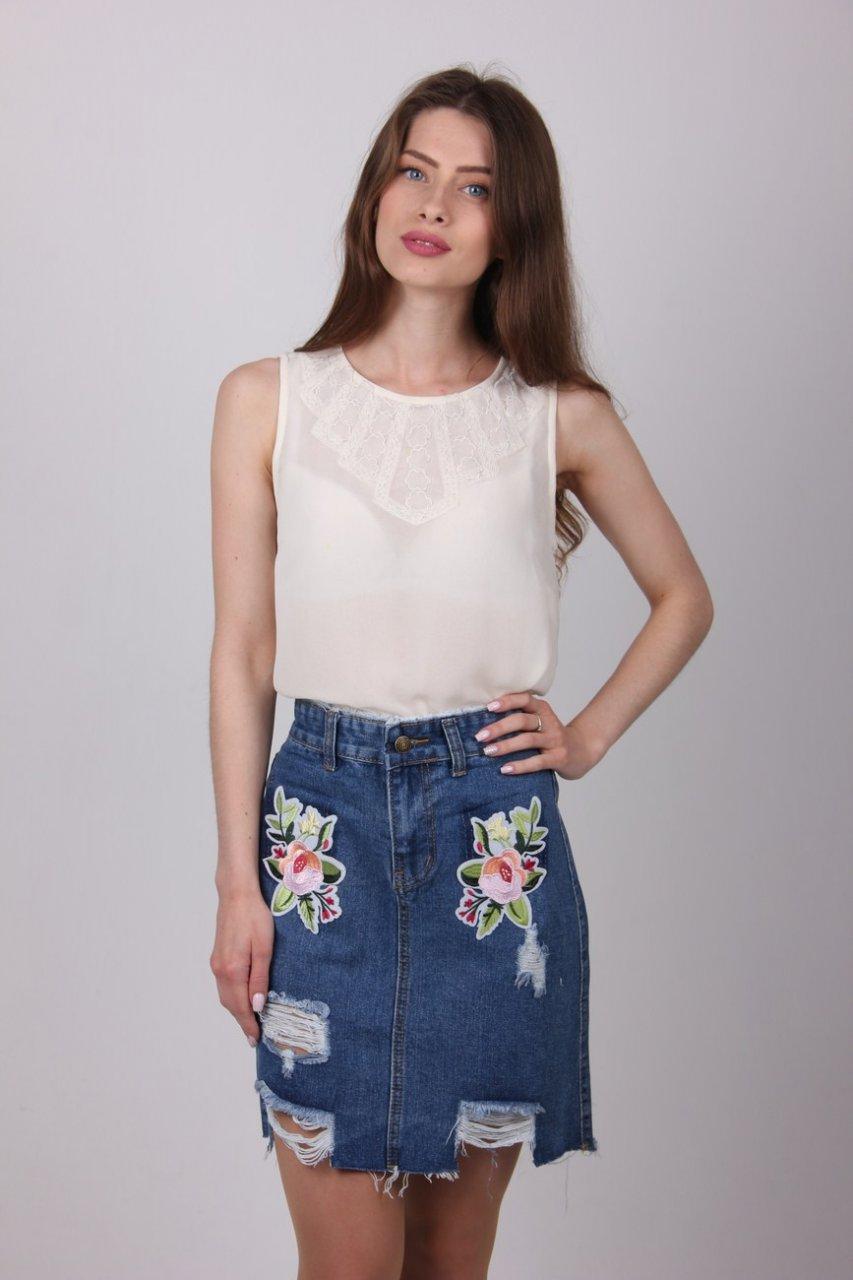 Стильная юбка из джинса