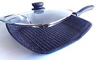 Сковорода-гриль Peterhof PH 15464 с гранитным покрытием  28см