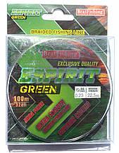 Шнур BratFishing ESPIRIT GREEN, 0,23, 100м