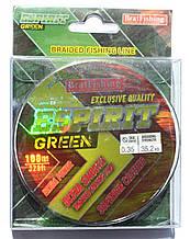 Шнур плетений рибальський BratFishing ESPIRIT GREEN, 0,35, 100м