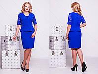 женское летнее нарядное платье Наргиз больших размеров в разных цветах