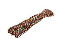 Паракордовый шнур (Веревка для туризма и выживания) 31 метр  Красный мультикам