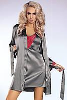 Серебристый комплект домашнего белья Platinum-Red (халат и сорочка)  от Livia Corsetti Отличная цена!