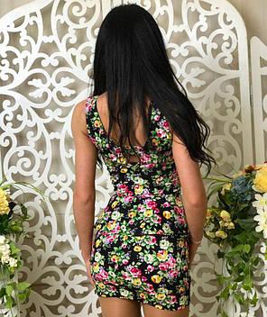 Костюм женский №41-42 топ + юбка черный, фото 2