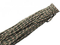 Паракордовый шнур (Веревка для туризма и выживания) 31 метр  Зелёный мультикам
