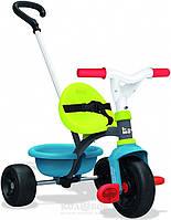 Детский металлический велосипед Smoby с багажником Детский велосипед Smoby Зелено-голубой