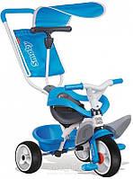 Металлический велосипед Smoby с багажником и козырьком Металлический велосипед Smoby Синий
