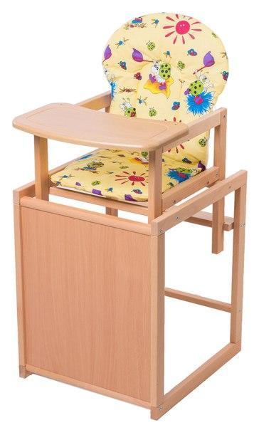 Стульчик- трансформер For Kids Бук-21 светлый мдф столешница  желтый с рисунком