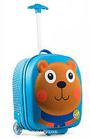 Детский чемодан на колесах Путешествие медвежонка Джо Oops