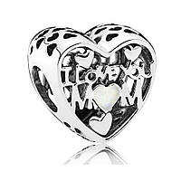 """Подвеска-шарм из серебра """"Люблю маму"""" Pandora, 792067EN23"""