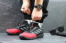 Кроссовки мужские Adidas Terrex черно-красные, фото 3