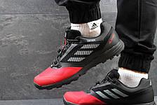 Кроссовки мужские Adidas Terrex черно-красные, фото 2