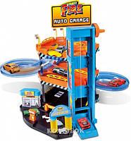 Ігровий набір Паркінг 3 рівня, 2 машинки 1:43 Bburago, фото 1