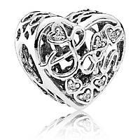 Подвеска-шарм «Мама и сын» из серебра Pandora, 792109CZ