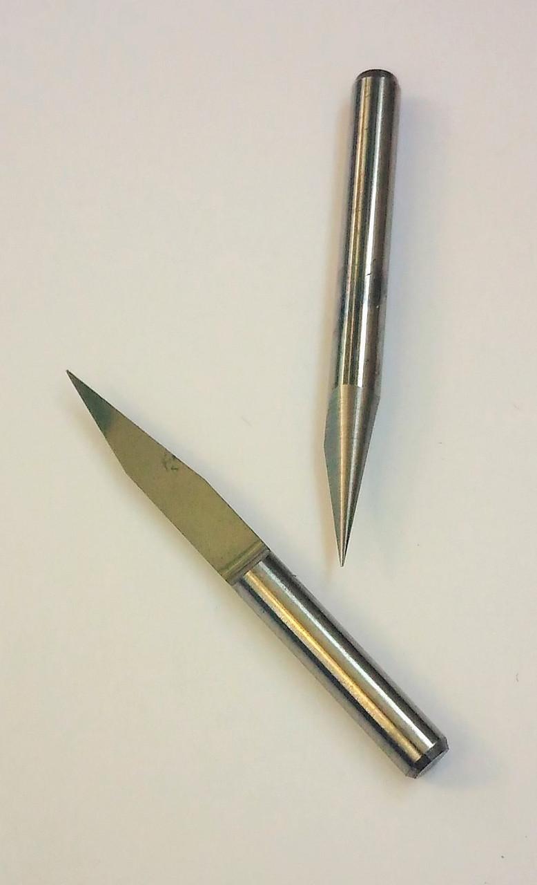 Гравёр конический 20° 0.2мм, V-образный, твердосплавный,  хвостовик 3.175 мм