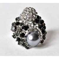 Шикарное объемное кольцо для девушек. Редкий дизайн. Хорошее качество. Доступная цена. Дешево. Код: КГ1225