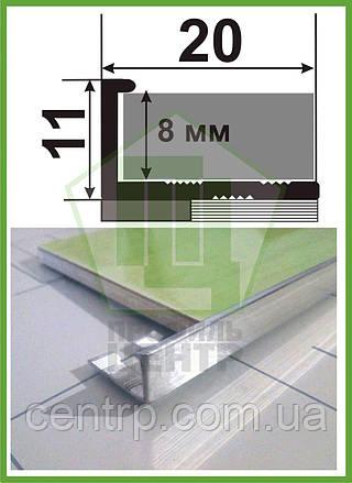 Гибкий Г - профиль для плитки до 9 мм полированный АПГ - 10 (2,7 м)