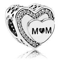 Подвеска-шарм «Награда для мамы» из серебра