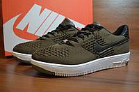 Мужские кроссовки Nike Force Flyknit Green (аир форс, реплика) (реплика), фото 1