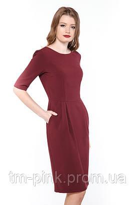 "Плаття Тюльпан короткий рукав ""Сакура"" платье тюльпан марсала"