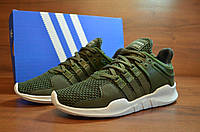 Кроссовки мужские летние Adidas EQT Support  Olive (адидас, реплика)
