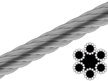 Трос 10 мм 6х12+1FC цб