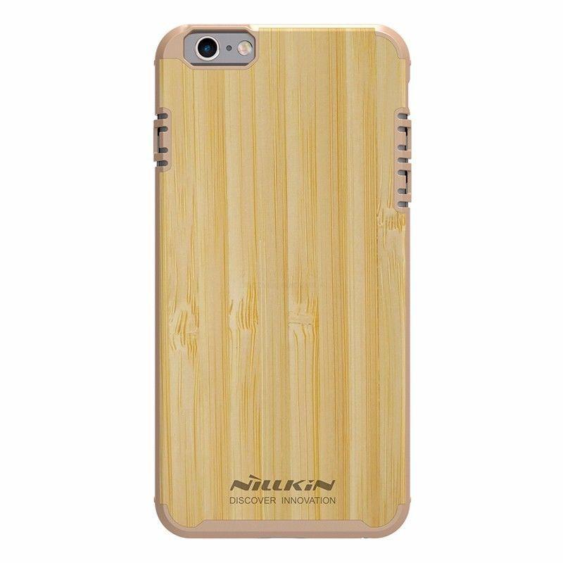 "Деревянная накладка Nillkin Knights Series для Apple iPhone 6/6s (4.7"") Золотой"