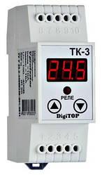 Одноканальный терморегулятор с датчиком TK-3 DIN-рейка DigiTOP