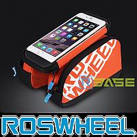 "Велосипедная двухсторонняя сумка на раму для смартфонов до 5.7"" Roswheel 121273"