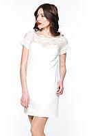 """Плаття гіпюрна кокетка """"Tiffany"""" молочне платье гипюр"""