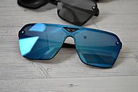 Солнцезащитные очки унисекс крупные авиаторы Синий, фото 1