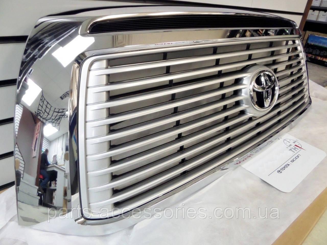Toyota Tundra 2010-14 Решітка радіатора хромова Limited Platinum Нова Оригінал