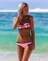 Купальник женский Triangle неопрен розовый, купальники фото