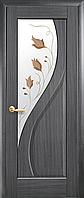 Двері міжкімнатні Новий Стиль, Маестра, модель Прима, зі склом сатин з малюнком P1