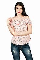Женская блуза с открытыми плечами на резинке