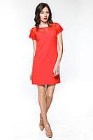 """Плаття гіпюрна кокетка """"Tiffany"""" червоне платье гипюр"""