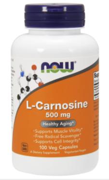 Л Карнозин, Now Foods, L-Carnosine 500 mg, 100 Caps