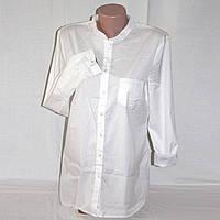 Белая удлиненная рубашка блузка женская р.44-46