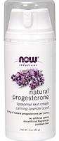 Крем с прогестероном и лавандой, Now Foods,  Progesterone Calming lavander, 85грам