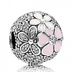 Клипса из серебра «Цветы» Pandora, 792084CZ