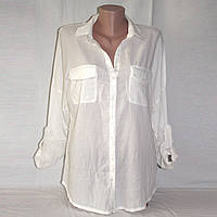 Белая рубашка женская 44-46 длинный рукав Bershka