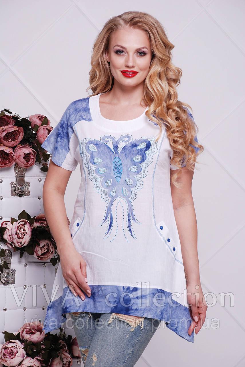 a2bce1fe2c5a8 Летняя туника больших размеров - Интернет-магазин женской одежды больших  размеров