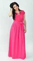 Розовое длинное платье в пол