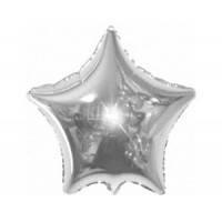 Звезда фольгированная 18 дюймов серебро flexmetal
