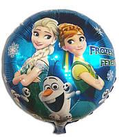 """Шарики воздушные фольгированные """"Фрозен - Холодное сердце""""  -диаметр 45 см."""