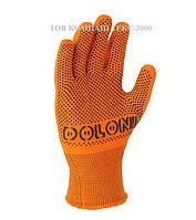 Перчатки нейлоновые с ПВХ точкой Долони, арт 4111, фото 1